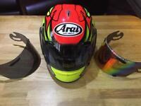 Motorcycle Helmet Arai RX7 RR4 Colin Edwards replica