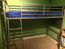 Metal bed frame single