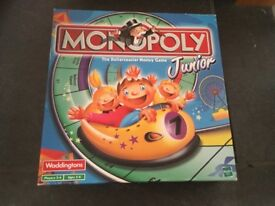 Brand new monopoly junior Board game. Opened but never played