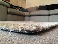 Sand coloured rug -new