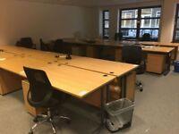 Variety of office desks