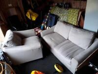 Laura Ashley grey sofa & chair
