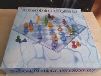 Coloured Glass chess set