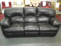 In great condition, Black 3 seater leather sofa