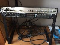 Motu 828 interface and Focusrite Trackmaster Vocal strip