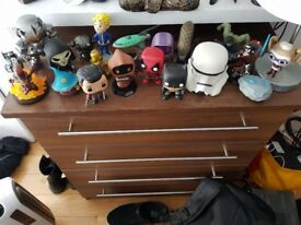 Various Pop Vinyls and Other Figurines