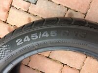 Set of tyres 245/45r18 and 275/40r18 Continental SC 3
