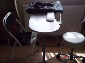 PORTABLE MANICURE TABLE / CHAIR & STOOL