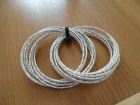 ladies white glitter bangles x20