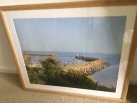 Light wood framed picture