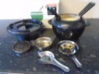 fondue set cast iron
