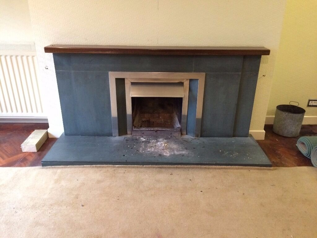 dark green grey slate fireplace surround for sale in lisburn