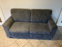 Brand new!! Gorgeous 2 seater grey suede / velvet sofa bed