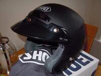 Shoei RJ Platinum-R OPEN FACE CRASH HELMET ** NEW**