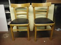 TWO RETRO KITCHEN CHAIRS