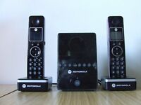 Motorola D810 series cordless phone set.