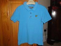 Lyle & Scott Polo T Shirt - Age 6/7 Yrs - Unmarked Condition
