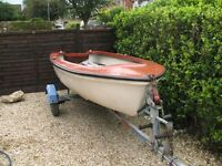 Sea Gull Sailing Dingy With Road/Lauch Trailer