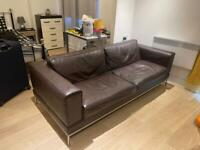 Brown leather sofa, great condition