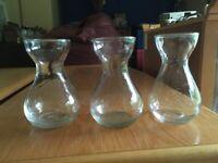 Glass Vase - Smal x3
