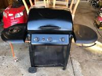 Gas burner with side hob barbecue bbq