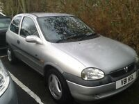 V reg vauxhall corsa 1.6cc petrol engine, manual, drives great