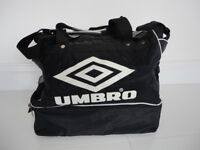 Classic Umbro Black/White Sports Bag