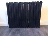 Black oval double panel radiator