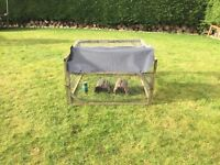 Hutch with cover and run plus water bottles £45