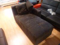 black fabric 2 seater corner sofa bed with storage