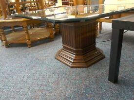 Solid Coffee Table with Glass Top #41904 £50