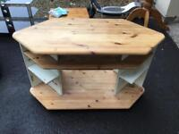 Large pine tv stand