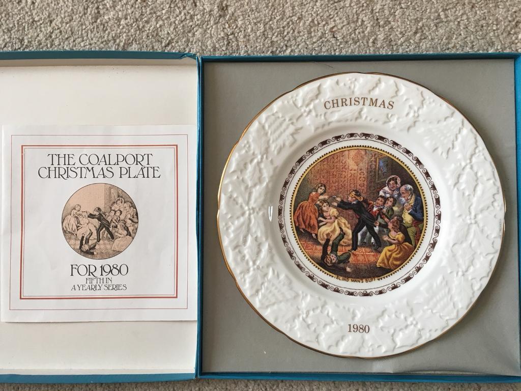 Coalport Annual Christmas Plate, 1980 'Blind Man's Bluff'