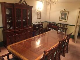 Classic High Quality Dinning Table & Cupboard