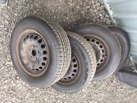 195/65/15 Part Worn Tyres on Steel Rims x4