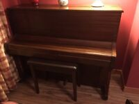Steinmetz/Bruce Miller upright Piano £100. Reluctant reason for sale is require space for Office.