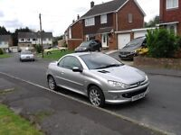 2006 Peugeot 206cc 1.6 16v Cabriolet Sport in Metalic Aluminum Silver with Long MOT
