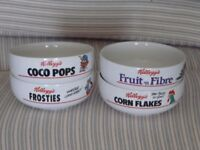 SPECIAL EDITION KELLOGGS CEREAL BOWL'S