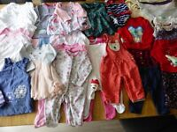 Baby Girl 3-6 months. Mixed bundle of 45 items. Excellent, clean condition.