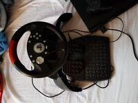 Ps3 bundle 20+ games steering wheel