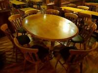 Oval 6ft solid wood Pub table