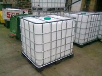 IBC TANK 1000 LITRE USE FOR WATER BUTT STORING LIQUIDS OR SOLIDS