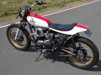 Yamaha XS650 street tracker scrambler custom bike motorcycle cafe racer bikeshed