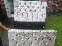Brand new crushed velvet double bed (frame only) no mattress