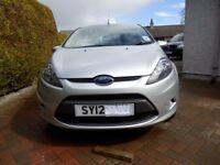 Low Mileage 2012 Ford Fiesta Style 5 door with FSH and MoT till4/2019