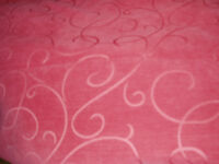 Red Curtain Fabric - Never Used - Enough for Pair of Curtains