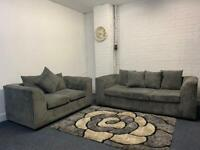 Grey sofas 3&2 delivery 🚚 sofa suite couch furniture