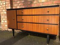 Original retro Sideboard and Bedside cabinet