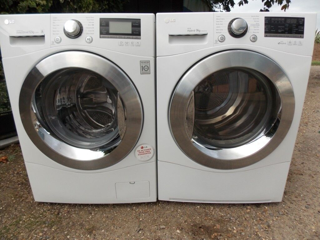 LG washing machine 12kg load and matching LG heatpump condenser tumble  dryer   | in Highwoods, Essex | Gumtree