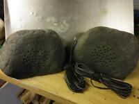 Pair of garden Rock Speakers waterproof